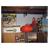 Basement Right  Chain saws, Leaf Blower, Outdoor Sparyers