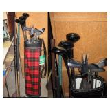 Basement Right  Jerry Barber Golf clubs (Some never used)