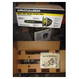 Basement Right  New McCulloch Chain saw w/box