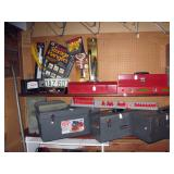 Basement Right  Drop lights, Hangers, Tool boxes, Contico new tool box, Wood Level