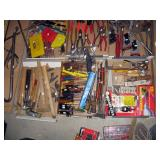 Basement Right  Tools-Hammers, Screw Drivers, Ruler, Hole saws