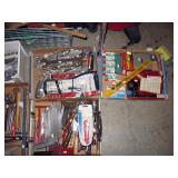 Basement Right Tools-Wrenches, Files, Staple gun, Staples, Chisels