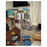 Back Bedroom Left  2 file cabinets (one locke as a safe), Videos, CD, Cassette,Note books, Kids 45