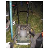Outside Back yard  Craftsman Electric starter 4 hp mower
