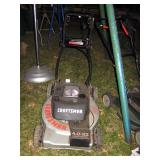 Outside Back yard  Black & Decker mower