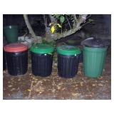 Outside Back yard  Garbage cans