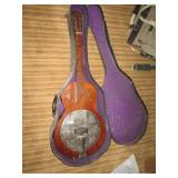 Basement:  Resonator guitar chrome cover