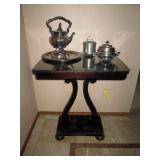 Dining  Room:  Silver Tea set, Side Table