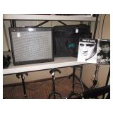 Basement:  Fender Blues Junior Amp pr-295, Peavey Bag, Elvis & Dylan Music
