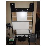 Basement:  5 Kenmore 401 speakers, White storage cabinet, Z Stand, Iron Cobra Pedal Box