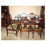 Dining Room: Duncan Phyfe Style Dining--5 chairs, (1Captain