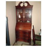 Dining Room:  Serpentine Front Oak Secretary Hutch