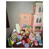Living Room:  Fisher Price loving Family Twin Time Doll House w/Furniture