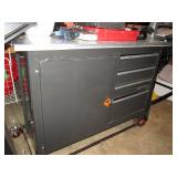 Garage:  Craftsman Work Bench on Wheels--Stainless Steel Top