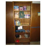 Upstairs Bedroom Right: Shelf Unit, Brother P-Touch PT-20/25 Label Machine, CD