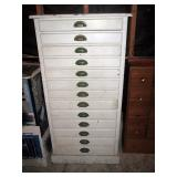Garage:  White Cabinet (Great Vintage Piece)