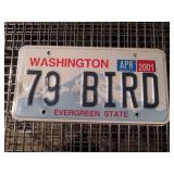 "Garage:  Washington License Plates ""79 Bird"""