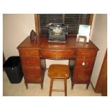 Upstairs Hall:  Great Desk, Underwood Typewriter