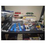 Basement: Atlas Track, Bachmann Track, Wiring, Liquid Smoke, Screws, Track ends