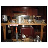 Back Bedroom  Aluminum & Steel Pots & Pans, Garden Work Bench
