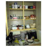 Kitchen  Cups, Bowls, Toaster, Bread Box, Coffee Maker