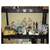 Living Room:  Figurines, Celluloid Dresser set,