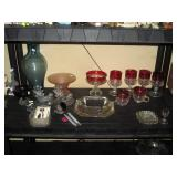 Living Room:  Vase, Glasses, Ash Tray, etc.