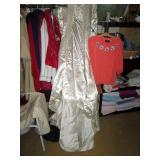 Back Bed Room:  Vintage Wedding Dress, Bob Ma