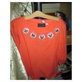 Back Bed Room: Bob Mackie Orange Blouse/Shirt