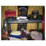 Back Bed Room: Purse, Hats, shirts