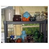 Kitchen: 2 Gal Red Wing Crock, Cookie Jar, Glass Stuff