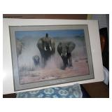Living Room: Elephants Poster