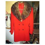 Back Bed Room:  Red Wool Coat