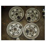 Basement: 4 Rally Rims  Chevrolet (Owner had a Chevelle)