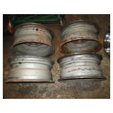 Basement:4 Rally Rims  Chevrolet (Owner had a Chevelle)