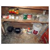 Basement: Nails, Paint, Garden Chems, 2 Electric motors (not working)