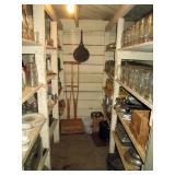 Basement Pantry:  Wood Crutches,