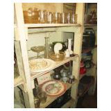 Basement Pantry: Glasses, Plates, Vases
