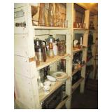 Basement Pantry:  Vases, Coffee Pots, Small Oven