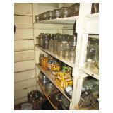 Basement Pantry:  Hundreds of Canning Jars, Lids, etc.