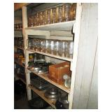Basement Pantry:  More of the Hundreds of Canning Jars, Cooking things