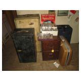 Bed Room Left: Trunks, File Suit Cases, Rocks, CDs