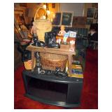 Living Room:  Indian Basket, Other Baskets, Binoculars, WW2 Small Periscope,
