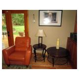 Family Room: Leather Chair, Bernhardt Furniture