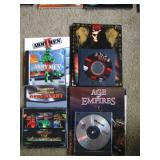 Upstairs 1st Left Bedroom Left:  Army Men 3DO, Red Alert/Command & Conquer, Diablo 2, Age of Empires