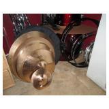 Upstairs 1st Left Bedroom Left: Pearl 5 Drum Set w/10 Zildjian Pearl Cymbals