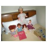 Upstairs 2nd Center Bedroom Left: Vintage Dolls