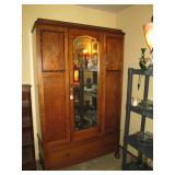 Living Room: Oak Armoire (English)