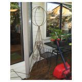 Back Deck: Wire Yard Art
