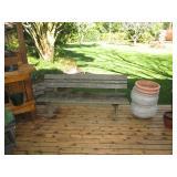 Back Deck: Bench, Planting Pots